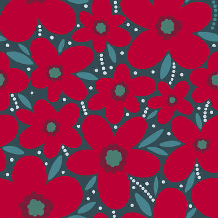 Seamless pattern floral flower abstract.Botanical vintage nature background.Print fashion textile.