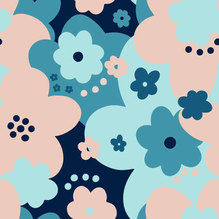 Seamless pattern floral abstract.Botanical vintage nature background.Print fashion textile.