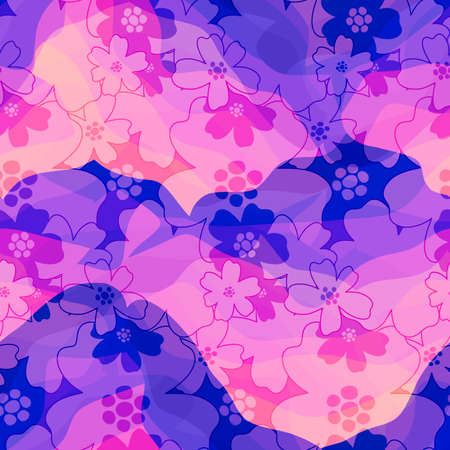 Seamless pattern transparency texture floral flower abstract..Print fashion textile