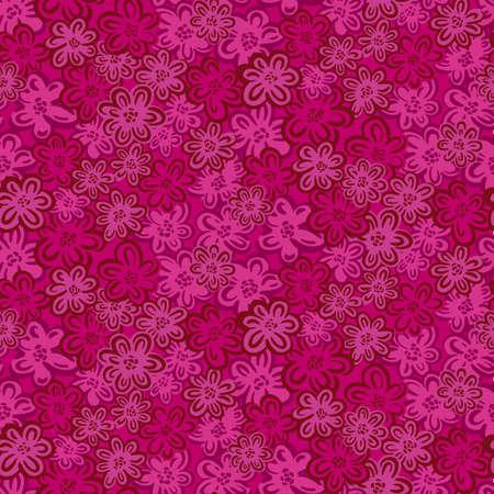 Seamles pattern ditsy small flower.Hand drawn print of textile.Vintage floral design.Vector illustration. Illustration
