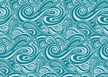 Seamless pattern wave abstract.Line drawing style.Fashion textile fabric. Illustration