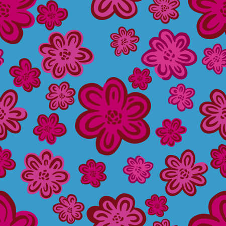 Seamles pattern ditsy small flower.Hand drawn print of textile.Vintage floral design