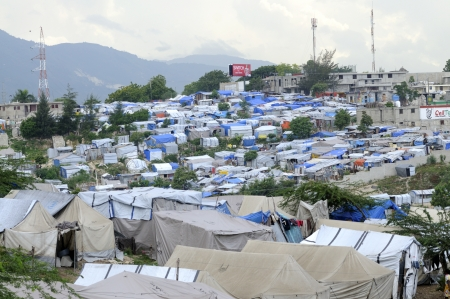 PORT-AU-PRINCE - AUGUST 28: An huge amount of area of the capital of Haiti is occupied by Tents on August 28, 2010 in Port-Au-Prince, Haiti