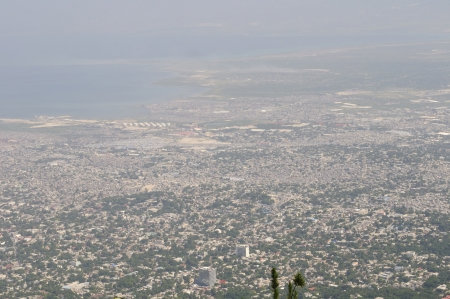 PORT-AU-PRINCE - SEPTEMBER 2: An areal view of Port-Au-Prince and adjoining areas , in Port-Au-Prince, Haiti on September 2, 2010.