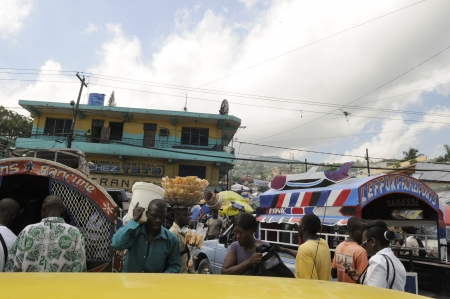 PORT-AU-PRINCE - SEPTEMBER 2:View of the market area of Port-Au- Prince which has suffered serious loss since the earthquake as many people went outside, in Port-Au-Prince, Haiti on September 2,2010.