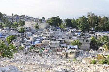 PORT-AU-PRINCE - AUGUST 28: Devastation is visible all around,on August 28, 2010 in Port-Au-Prince, Haiti