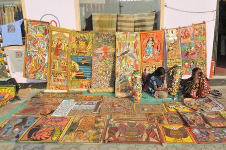 KOLKATA- FEBRUARY 23: An art stall ,during the Handicraft Fair on February 23, 2011 in Kolkata, India.