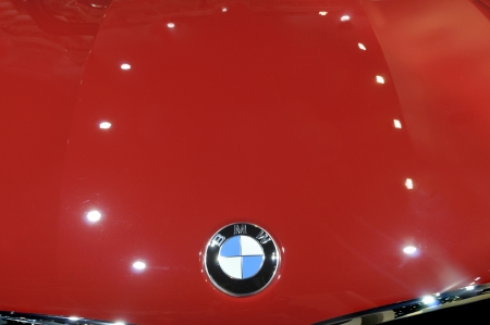 TORONTO-FEBRUARY 22: Closeup of an BMW logo during the 40th International Auto Show on February 22, 2013 in Toronto, Canada.