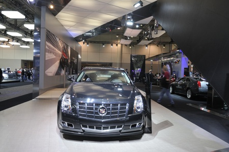 TORONTO-FEBRUARY 22: A Cadillac XTS Sedan on display during the 40th International Auto Show on February 22, 2013 in Toronto, Canada. Editorial