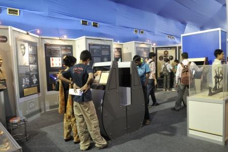 コルカタ-2 月 20: 集まった科学博物館ブース内部情報および通信技術 (ICT) の会議と展示会 2011 年 2 月 20 日インド、コルカタの中。 報道画像