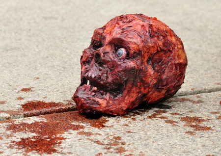 body paint: Cráneo de Halloween. Editorial
