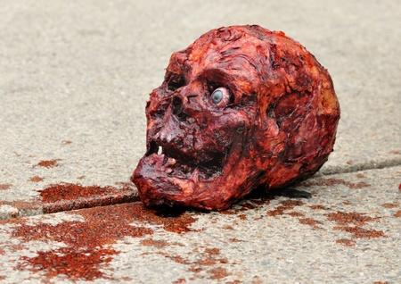 body paint: Halloween Skull.