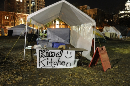 evicted: TORONTO - NOVEMBER 22: Empty kitchen of the Occupy Toronto protesters after the news floated in that they might be evicted on November 22, 2011 in Toronto, Canada. Editorial
