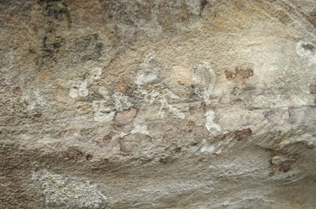 A prehistoric cave painting in Bhimbetka -India Banque d'images