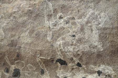 cave painting: Una pintura rupestre prehist�rico en Bhimbetka-India Foto de archivo