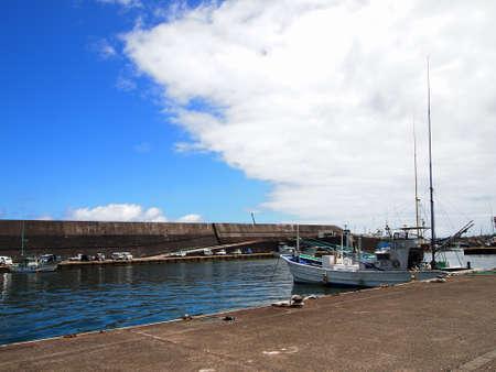 Kaminato fishing port in Hachijo island (Tokyo, Japan)