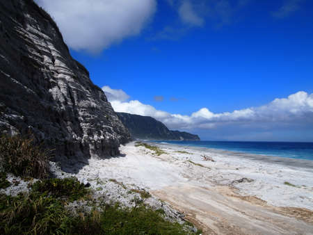 unexplored: Habushiura beach in Niijima island (Tokyo, Japan) Stock Photo