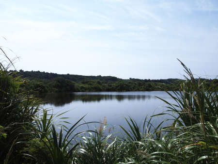 unexplored: Oike lake in Kita-daito island (Okinawa, Japan)