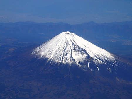 bird 's eye view: Mount Fuji (bird  s-eye view) Stock Photo