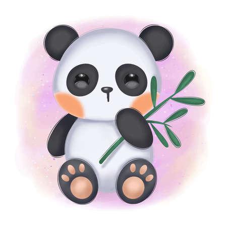 baby panda illustration Illustration