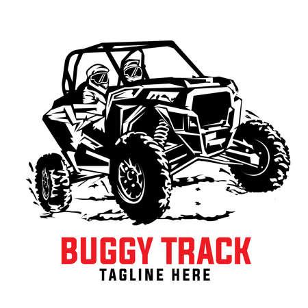 Buggy extreme sport adventure, good for Team tshirt design, campground vacation, badge also sticker design