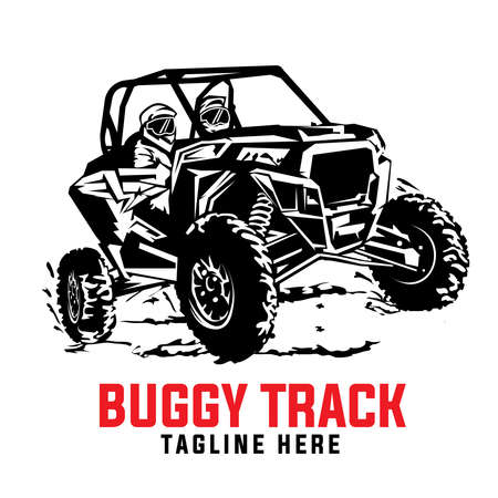 Buggy extreme sport adventure, good for Team tshirt design, campground vacation, badge also sticker design