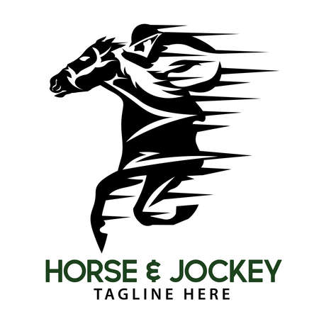Horse racing with jockey, good for competition, stable, farm, and tournament design