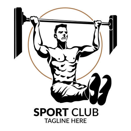 Calisthenic Work out sport vector illustration, perfect for Sport club, Fitness Club, and Gym logo