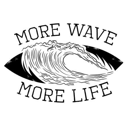 Wave vector illustration, perfect for beach house logo, surfing school and club logo, also tshirt design