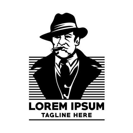 Mobster logo, good fashion business logo, fashion brand logo and vape store
