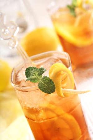 herbata z cytrynÄ… lodu