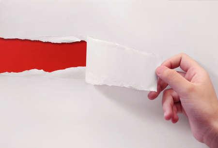 czerwono na białym papierze Zdjęcie Seryjne