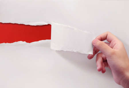 red on white paper