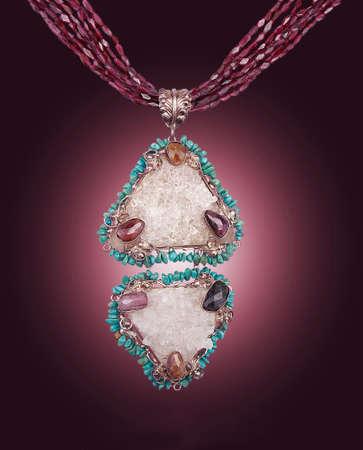 green tourmaline:  Necklace