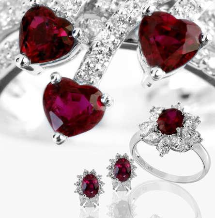 gem stones: jewelery set