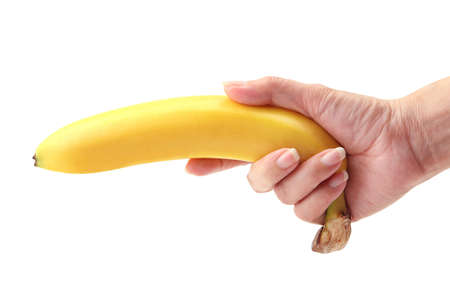banana in hand photo