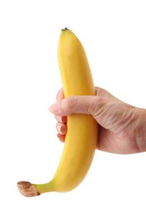 banana in hand Stock Photo - 6403104