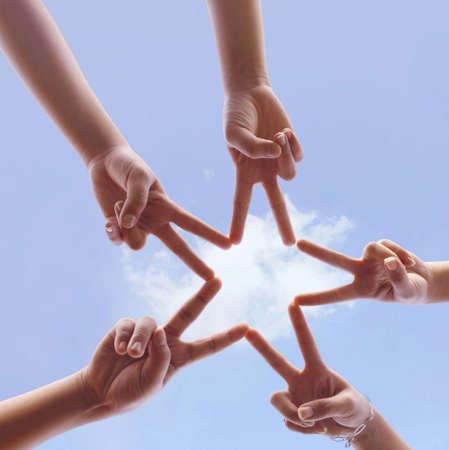 сообщество: символ руки Фото со стока