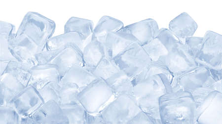 ice water: Ice cubes
