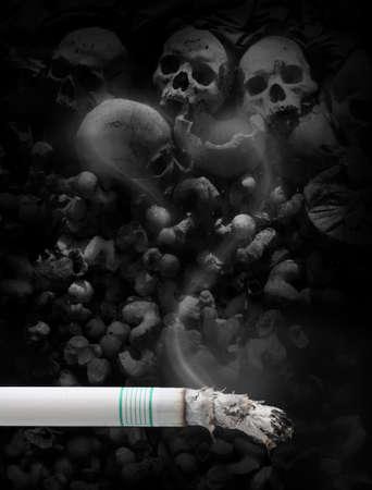 malos habitos: dejar de fumar Foto de archivo