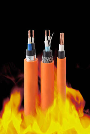 electrical wires:  fire resistant cables