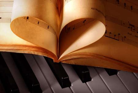 ancient music books Stock Photo