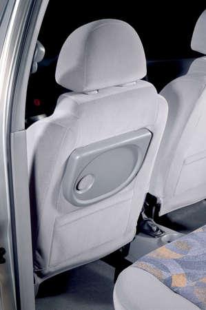 cloth back: Car back seats interior