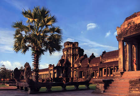 either: Ancient Angkor Wat either heritage in Cambodia