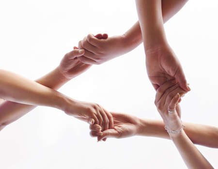 the hand symbol description of team work Stock Photo - 7678430