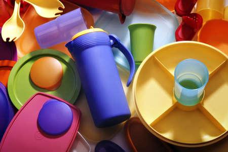 recyclage plastique: ware en plastique Banque d'images