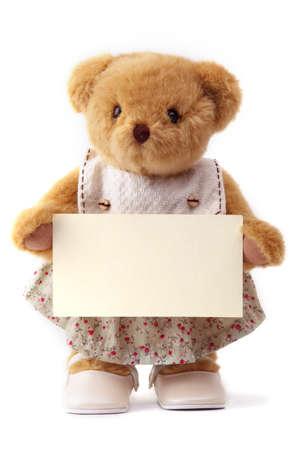 ours: ours en peluche et carte vierge