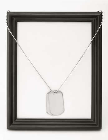 dog tag and frame photo