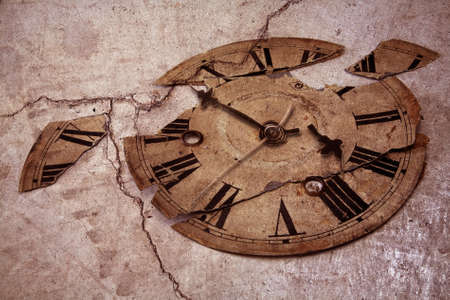 ancient pass: old fashioned clock
