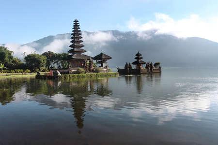 indonesia culture: the Bedugul lake in bali island - Indonesia